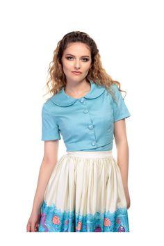 b775ed6255 Collectif Vintage Ellie Plain Cropped Jacket 1940s Dresses