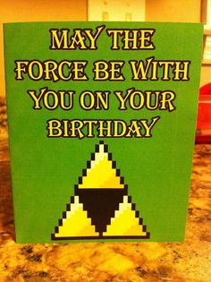 Legend of Zelda Birthday Card Template. $2.75