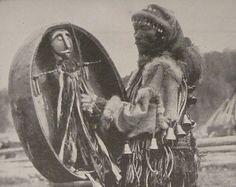 Vintage 1930s photo of an Altai Shaman