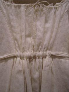 Detail japon | detail gown, ca. 1810-1815, katoen | cotton, Gemeentemuseum Den Haag #modemuze #janeausten #gemeentemuseum