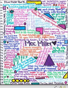 i know what im doing in class... Mac Miller<33