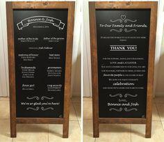 Wedding Chalkboard Easel artwork by www.victorygraphix.net