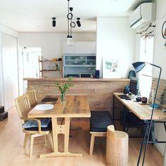 植物/DIY/NO GREEN NO LIFE/足場板/いつもいる場所/百均…などのインテリア実例 - 2016-05-06 19:42:07 | RoomClip(ルームクリップ) Home Office Design, House Design, Studio Floor Plans, Tiny Loft, Asian House, Home Gym Decor, Japanese Home Decor, Interior Concept, Small Dining