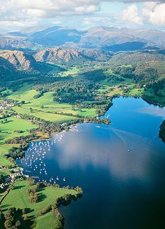The Lake District, Cumbria, England; some of the most stunning landscapes in Britain. The Lake District is the land of Rheged. Places Around The World, Oh The Places You'll Go, Places To Travel, Places To Visit, Cumbria, Lake District, English Countryside, British Isles, The Great Outdoors