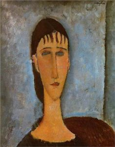 Amedeo Modigliani (1884 -1920) | Expressionism | Portrait of a Young Girl - 1910