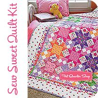 Sew Sweet Quilt Kit by Holly Holderman Featured in McCall's Quilting September/October 2013 issue