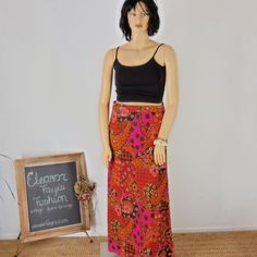 60s Maxi skirt sze 14 / 16 vintage paisley by EleanorFayesFashion