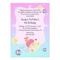 Fun Mermaid Birthday Party Invitation