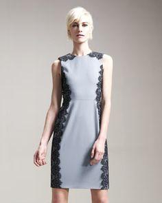 Grey Lace Edged Dress
