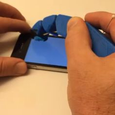 The #dualstrusion robot/prosthetic finger works ok with the phone after I melted/flattened the fingertip of #conductive #tpu