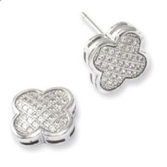 Sterling Silver Micro Pave Set CZ Clover Stud Earrings Gemologica.com offers a unique and simple selection of handmade fashion and fine jewelry for men, woman and children to make a statement. We offer earrings, bracelets, necklaces, pendants, rings and accessories with gemstones, diamonds and birthstones available in Sterling Silver, 10K, 14K and 18K yellow, rose and white gold, titanium and silver metal. Shop Gemologica jewellery now for cool cute design ideas