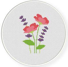 FREE Meadow Flowers Cross Stitch Pattern