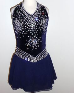 CUSTOM MADE TO FIT BEAUTIFUL COMPETITION FIGURE ICE SKATING DRESS | eBay