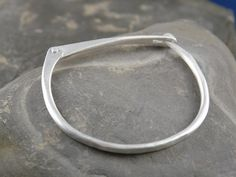 Hand forged silver latch bracelet