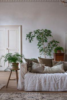 Living Room Plants Decor, Simple Living Room Decor, Boho Chic Living Room, Natural Home Decor, Transitional Decor, Velvet Cushions, Interior Inspiration, Interior Design, Sitting Rooms