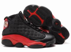 Big Kids Jordan Shoes Kids Air Jordan 13 Black Varsity Red  Kids Air Jordan  13 - Characterized with the perfect colorway of black and white 85a8df899
