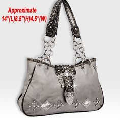 Western Buckle Pewter Handbag. #popular #fashion #purse #3d #womens #style #hot #trendy #boutique #sexy #bag #country #bling #cowgirl
