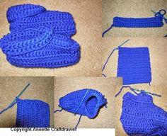 Easy crochet slippers pattern