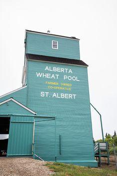 Grain elevator in Saint Albert, Alberta Canada O Canada, Alberta Canada, Canada Travel, Canadian Things, Western Canada, Canadian History, World View, Life Choices, Beautiful Landscapes