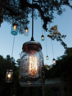 Jam jar lights. Gorgeous!