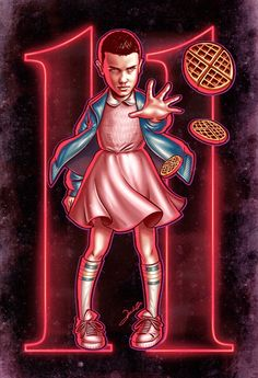 Illustration of the incredible character Eleven, played by the sensational actress Millie Bobby Brown of the series Stranger Things produced by Netflix. Stranger Things Tumblr, Stranger Things Season 3, Stranger Things Aesthetic, Eleven Stranger Things, Stranger Things Netflix, Bobby Brown, Strange Things, Movies, Wolf Wallpaper