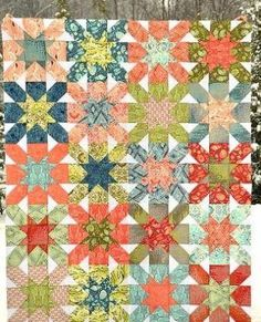 Starburst Cross Block Quilt | The stars are in alignment for this starburst quilt pattern!