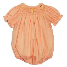 University of Tennessee Girls Smocked Bubble from Smocked Auctions