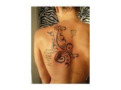 Tatuaż na plecach - 25 uroczych wzorów dla dziewczyn - Strona 17