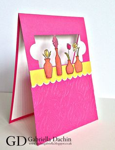 Vivid Vases on the windowsill - Gabriela Dachin - Independent Demonstrator Stampin'Up!