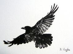 Original Kohlezeichnung Krähe, Krähe Zeichnung, Turm Zeichnung, Krähe Kunst, Bleistiftzeichnung, Gotik, Wildlife Kunst, Vogel Kunst, Krähe Bild
