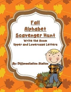 Fall Scavenger Hunt: Upper and Lowercase Alphabet, Common Core