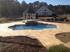 Beautiful restoration of a 25 yr old pool in Milton Ga.