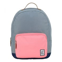 The Pack Society Grey Pink Navy Pop Classic Backpack