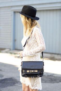 hats + lace