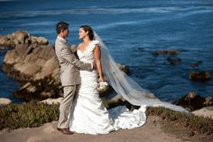 Beautiful moment between Bride & Groom, Monterey Beach wedding I http://eventsbyclassic.com