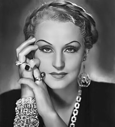 German film star Brigitte Helm, 1932.She is best known for her first film role as Maria in Fritz Lang's Metropolis (1927)