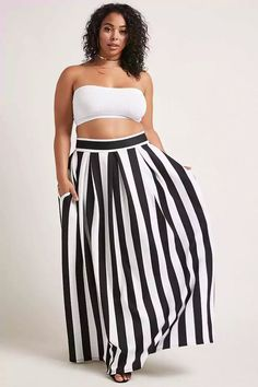 Product Name:Plus Size Scuba Maxi Skirt, Category:CLEARANCE_ZERO, Price:38
