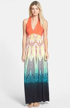 FELICITY & COCO Printed Maxi Dress (Regular & Petite) (Nordstrom Exclusive) available at #Nordstrom