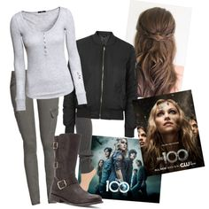the 100 : Clarke griffin by haylee-borthwick on Polyvore featuring polyvore fashion style H&M Topshop Hue Frye