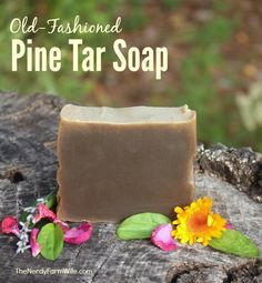 Old Fashioned Pine Tar Soap (Palm Free) (old time remedy for psoriasis, eczema & other skin problems)
