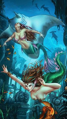 Zenescope Grimm Fairy Tales Presents The Little Mermaid 2015 Lineart: Colors: Lineart: Zenescope GFT LittleMermaid M. Fantasy Girl, Fantasy Mermaids, Mermaids And Mermen, Fantasy Creatures, Mythical Creatures, Bastet, Little Mermaid 2, Mermaid Artwork, Grimm Fairy Tales