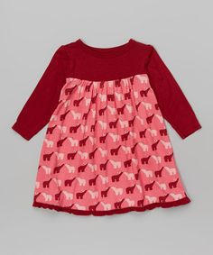 Another great find on #zulily! Winter Rose Polar Bear Swing Dress - Infant, Toddler & Girls #zulilyfinds