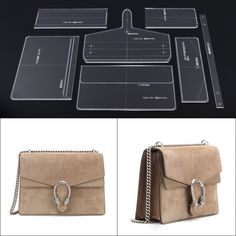 Leather Handmade Craft women shoulder bag Sewing Pattern Acrylic Stencil Template Sewing accessories with holes Leather Gifts, Leather Bags Handmade, Handmade Bags, Leather Craft, Handmade Crafts, Handbag Patterns, Bag Patterns To Sew, Sewing Patterns, Soft Leather Handbags
