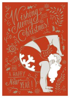 Merry Chrtistmas and Happy New Year! Thank you Tanya for this awesome Yogi Santa! Design by Tanya Donskih http://tumanami.tumblr.com/ #yogasanta #yogachristmascard