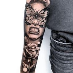 🔥🔥🔥🔥🔥🔥🔥🔥🔥🔥🔥🔥🔥🔥🔥🔥💰 Artist: 💰 Shop: (guest spot) 💰 Location: Toronto On. Wicked Tattoos, Love Tattoos, Picture Tattoos, Tattoo Photos, New Tattoos, Hand Tattoos, Tattoo Geek, Tattoo Life, Big Tattoo