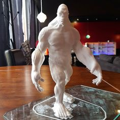 Have you guys been to Create Cafe 3D Printing  COFFEE Yeti!? We're open until 8:00pm today at 21 - 510 Circle Drive East. Come warm up with a tasty drink and explore all the new prints in the shop like this abominable snowman!  #lifehappens #coffeehelps #createcafe #yxe #3dprinting