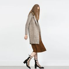 Image 2 of LACE-UP HEELED SHOES from Zara