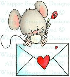 SWAK Mouse - Mice - Animals - Rubber Stamps - Shop