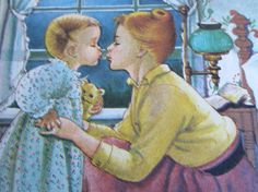 Vintage Golden Books  ~ Eloise Wilkin  She captured so beautifully the love a mother shares with her child. <3