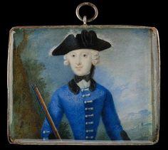 1750 German miniature portrait of a lady